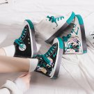 2020 Women Doodle Board Shoes Fashion Spring Teen GRAFFITI Skate Sneakers