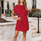 2020 Plus Size Women 2XL Mini Dress Solid Color Loose Casual Dresses