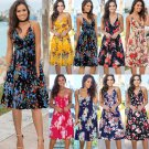 2020 Women Summer Casual Dress Spaghetti Strap Floral Printing Streetwear