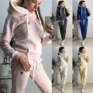 Spring Women's Two Piece Pants Autumn Plus Size Streetwear 3XL Female French Terry Tracksuits
