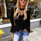 Plus Size 2XL Fashion Women Shirts Crew Neck Tops American Casual Streetwear Solid Color Blouses