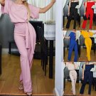 Women Casual Jumpsuits Crew Neck Night Club Wear Fashion American Streetwear