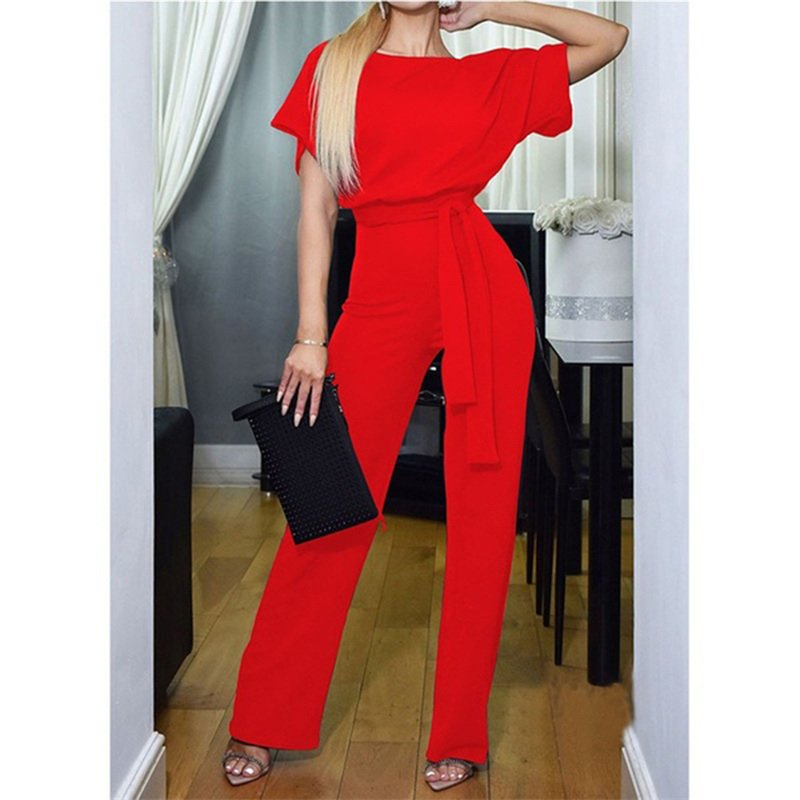 Fashion American Streetwear Summer Break Clothes Women Pants Short Sleeve Leisure Rompers