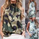 European Women Summer Tank Top Fashion Sleeveless Floral Tops