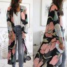 Floral Print Spring Cardigan 50% Mid-length Casual Streetwear Fashion Break Clothes