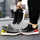 Men Fashion Casual Sport Shoes Male Fly Woven Sneakers Ins American Style Footwear