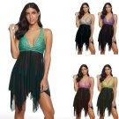 Female Plus Size Swimdress 5XL Women Push-up Beach Dress Polka Dot Bathing Suit