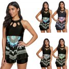 Super Size Beachwear Plus Size Swimming Costume 4XL Ruffle Bikinis Dashiki Print Swimwear