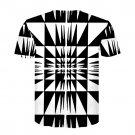 Free Shipping Short Sleeve Misconception T-Shirts Geometric Plus Size 3XL Streetwear