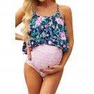 Fashion Gravida Tankinis Floral Printed Swimwear Female Bathing Suits Spaghetti Straps Beachwear
