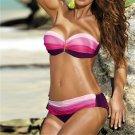 Sexy Spaghetti Strap Bathing Suits Contrast Color Swimsuits Women Bandeau Bikini