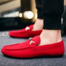 Plus Size Fashion Street Outfits Slip-On Ulzzang Shoes Low Cut Male Summer Suedette Loafer