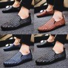 Men PU Loafer Low Cut Plaid PVC Casual Shoes 50% Male Fashion Derby Ulzzang Shoes