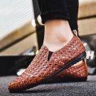 Male Fashion Derby Ulzzang Shoes Summer Punk Footwear Slip-on Faux Leather Winklepickers