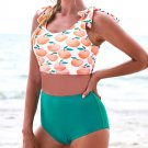 Floral Print Padded Bathing Suits Women Swimming Wear Summer Bikini Tops with Boy Shorts