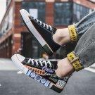Hip-pop Men Old School Plimsolls Teen Summer GRAFFITI Board Shoes Autumn Casual Skater Shoes