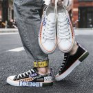 Casual Skater Shoes Fashion Doodle Skate Sneakers Summer GRAFFITI Board Shoes
