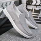 Chic Canvas Loafers Denim Casual Shoes Low Cut Male Fashion Shoes Slip-On Men Winklepickers