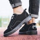 Low Cut Summer Footwear Lace-Up Men Denim Casual Board Shoes Solid Color Canvas Shoes