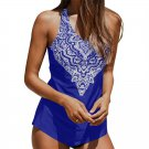 Paisley Print Swim Wear Women Retro Swimwear Water Sports Wear Mid Waist Beachwear