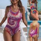 Paisley One-piece Suits Women Tie-Dyed Swimwear Sport Swimming equipment