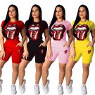 Fashion Women Tracksuits Short Sleeve Summer Trendy Clothing Solid Color Two Piece Sets