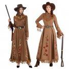 Halloween Medieval Knight Uniform Mardi Gras Women Indians Hunter Costume Carnival Cowboy Dress
