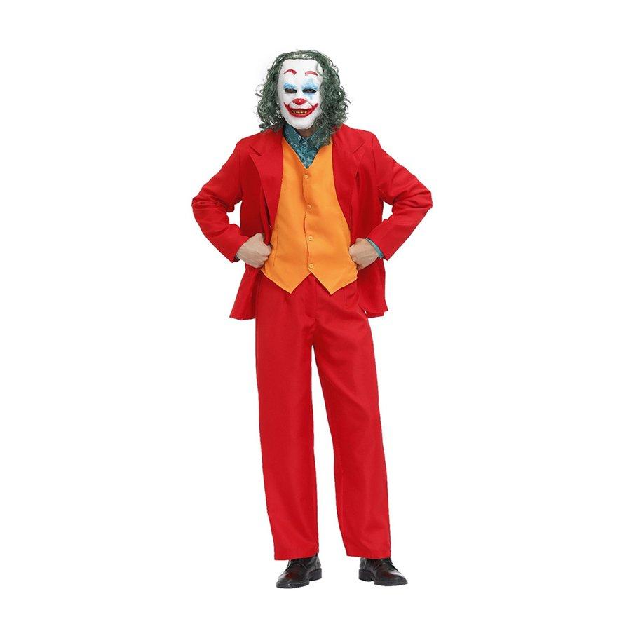 Mardi Gras Men Suits Carnival Clown Theme Costume Halloween Horror Joker Cosplay Uniform