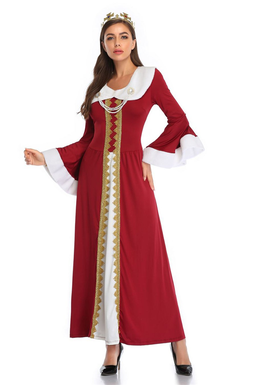 Halloween Queen Costume Carnival Uniform Medieval Cosplay Uniform Mardi Gras Ancient Outfits