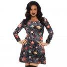 Halloween Fall Streetwear Long Sleeve Break Clothes Loose Autumn Skater Dress