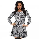 Autumn Casual Dress for Women Halloween Style Mini Dresses