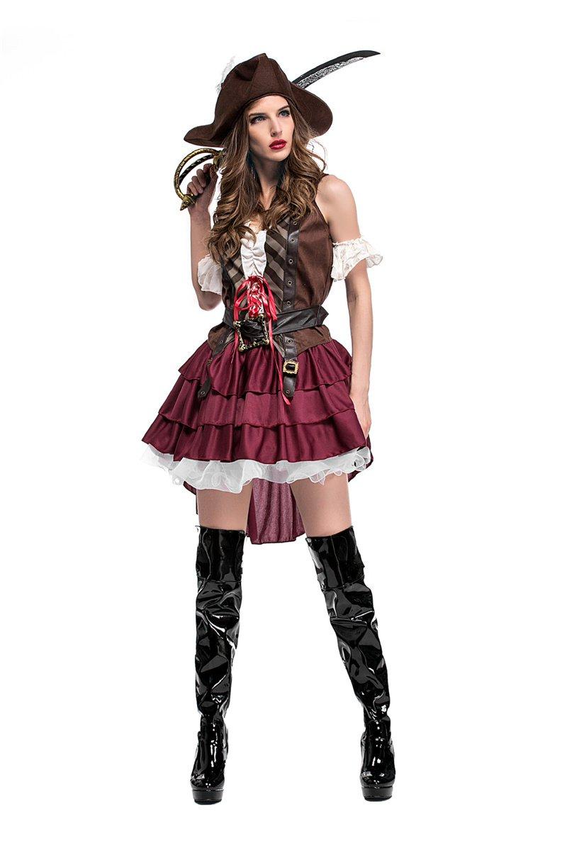 Halloween Sleeveless Luxury Cosplay Festival Somalia Pirate Uniform