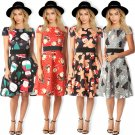 Fashion Xmas Streetwear Christmas Printed Midi Dress