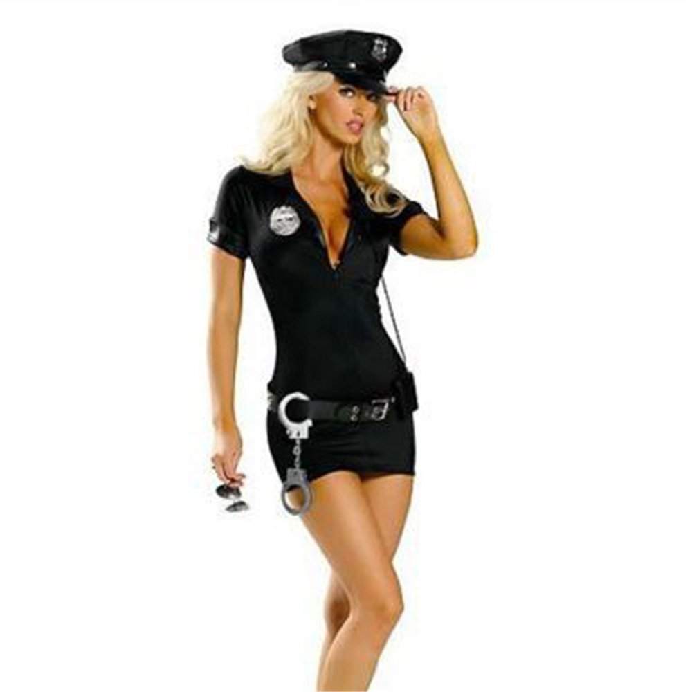 Carnival Police Costume for Women Halloween Cosplay Sexy Fancy Dress with Hat