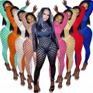 Sexy Fishnet Jumpsuit for Women Hollow Out Night Clubwear PQAJ4323A