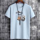 Plus Size 2XL Cotton Tops Summer Big Size Fashion T-shirt for Men PQ1016B