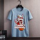 Lion Dance Cartoon Printing T-shirt Plus Size Fashion Tee Trend Casual T Shirt