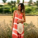 Fashion Spaghetti Strap Maxi Dresses Women Tie-dyed Boho Dress