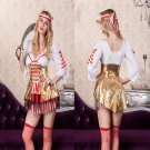 Sexy Halloween Pirate Cosplay Costume Women Carnival Fancy Dress PQ80781