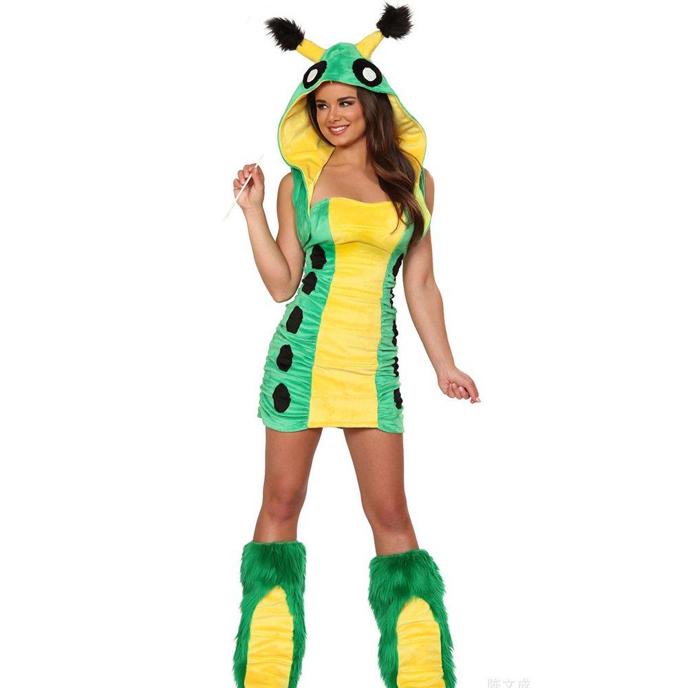 Faux Fur Caterpillar Carnival Uniform Fairy Tale Cosplay Animal Costume
