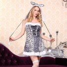 Faux Fur Leopard Carnival Uniform Cat Cosplay Animal Costume PQ80792