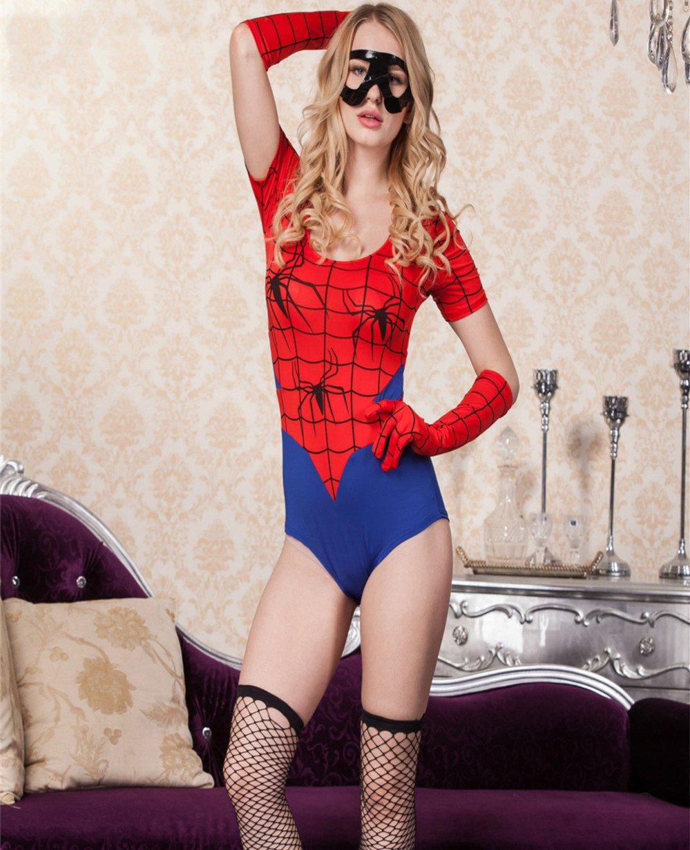 Sexy Girl Spider Costume Cosplay Uniform Heroine Costume PQ80624