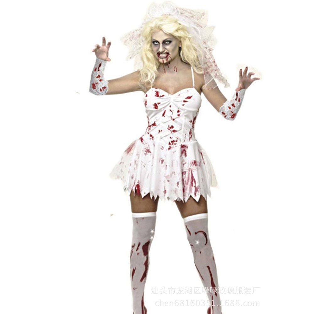 Bloody Mary Vampire Bride Costume Halloween Demon Zombie Costume PQ80840