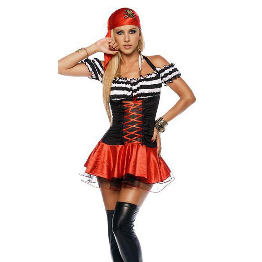 Sexy Carnival Cosplay Pirate Costume Women Halloween Fancy Dress PQ80399