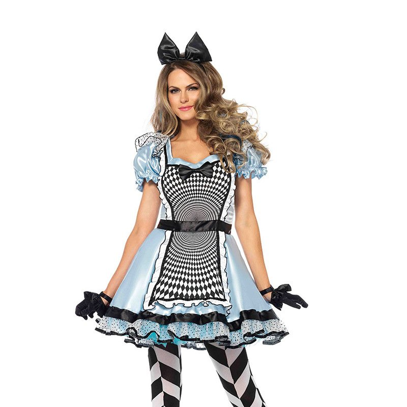 Alice in Wonderland Cosplay Costume Carnival Sexy France Maid Fancy Dress PQ00018
