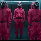2021 Halloween Cosplay Costume Hot Movie Acting Suit Popular Game Red Jumpsuit