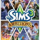 The Sims 3: Ambitions Expansion Pack Windows PC/Mac Game Download Origin CD-Key Global