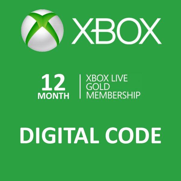 12 Month Gold Membership Xbox Live CD-Key Global