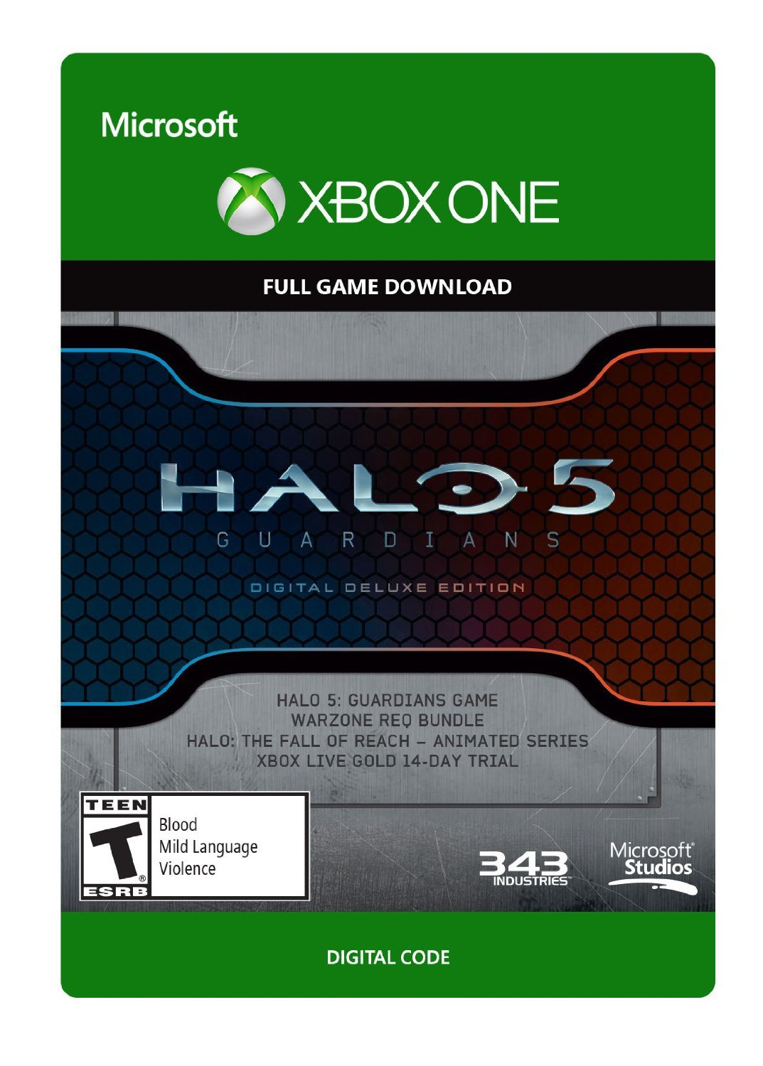Halo 5: Guardians Digital Deluxe Edition Xbox One Digital Game Download Xbox Live CD-Key Global