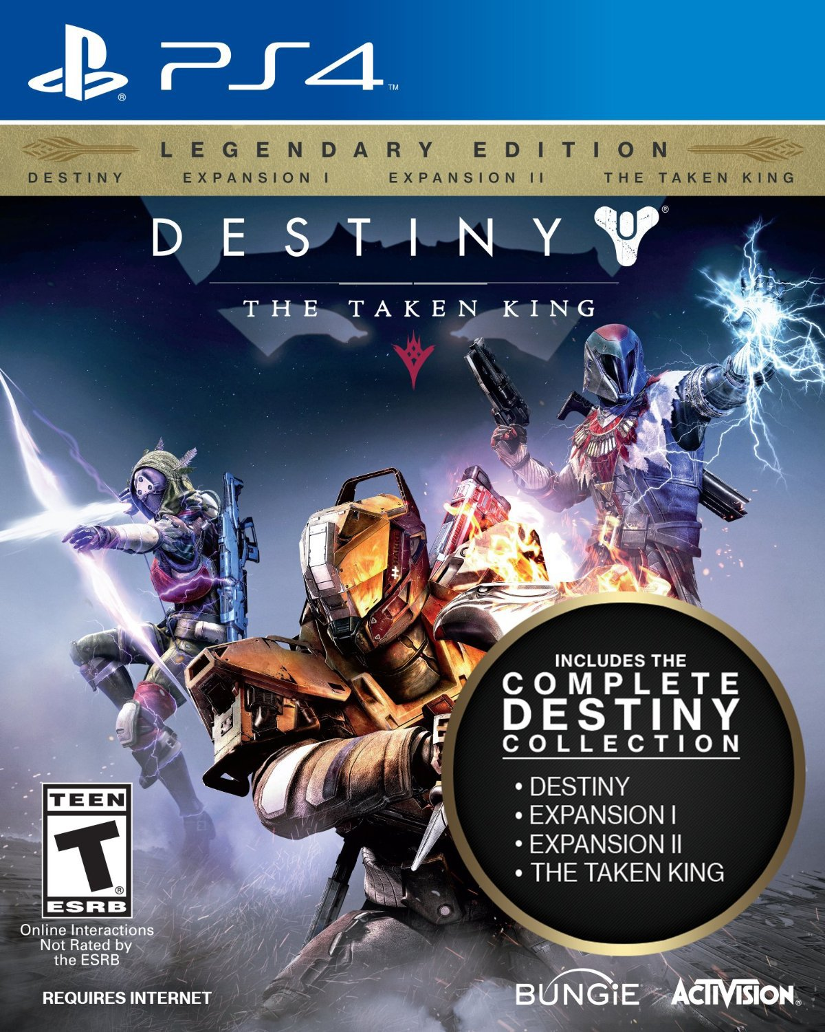 Destiny: The Taken King - Legendary Edition PS4 Physical Game Disc US